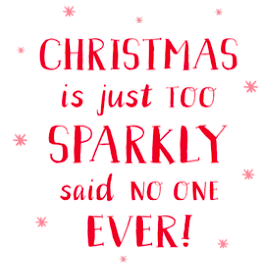 Christmas Is Sparkly Card