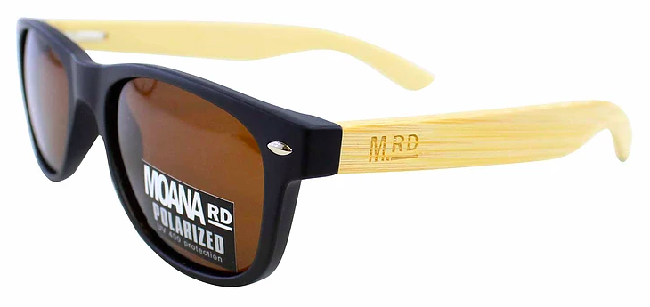 Kids Sunnies Black With Brown Lens