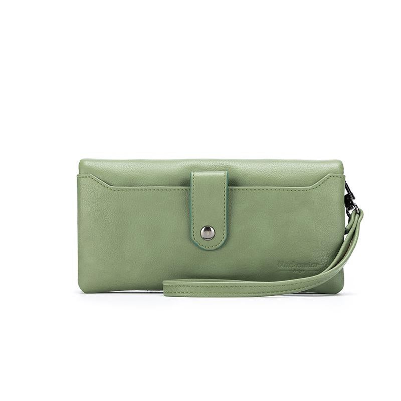 Evie Wallet Dark Sage