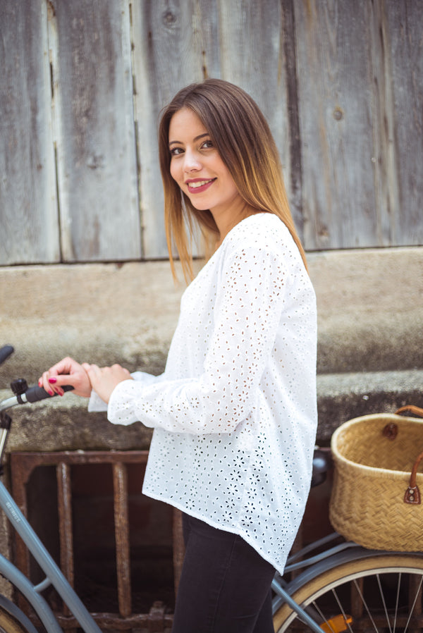 Blouse Jade Broderie - Sweeties by Aude D.