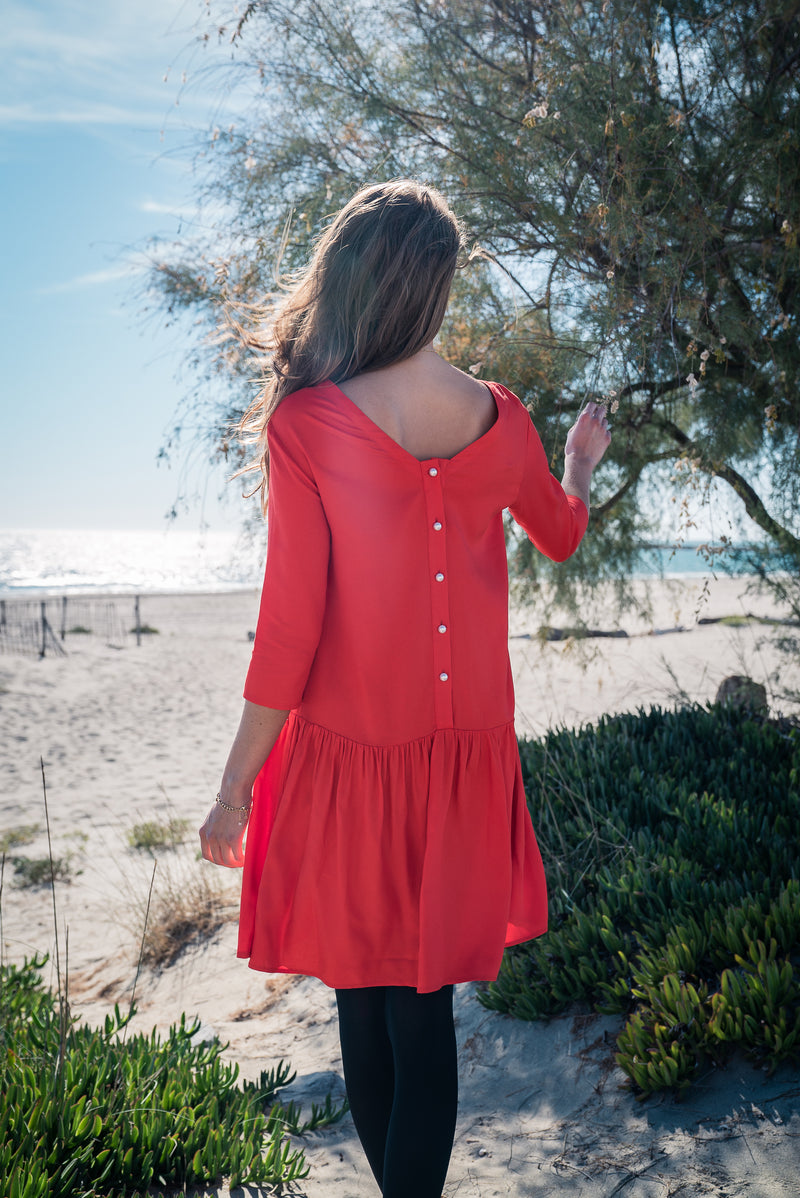 Robe Lila Rouge