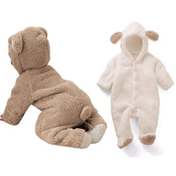 Baby Fleece Romper With Tail