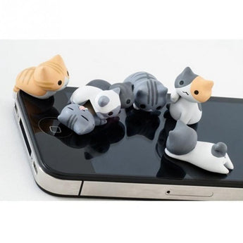 Purrfectly Cute Cat Earphone Jacks for iPhone and Android phones