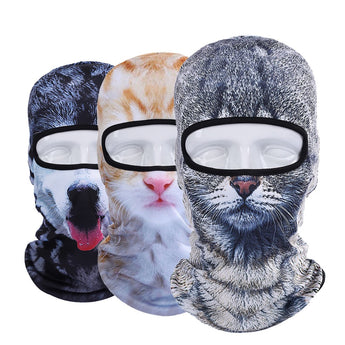 Realistic 3D Cat and Dog Ski Masks - epickstore.com