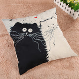 Stunning Square Cartoon Cat Pillow Cover - epickstore.com