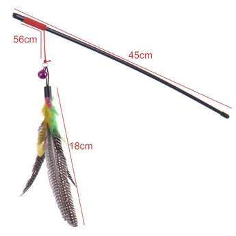 Feather teaser wand for cats