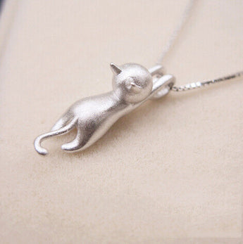 Cute Tiny Cat Pendant with Chain - epickstore.com