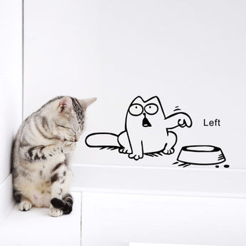 Funny Cartoon Cat Decal - epickstore.com