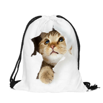 Just Saying Hi 3D Drawstring Bag - epickstore.com