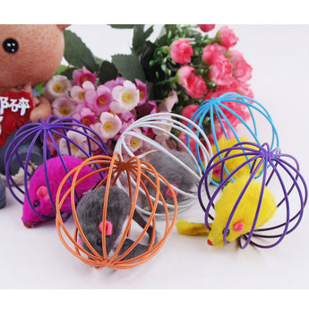 Toy mouse in ball cage cat toy - epickstore.com