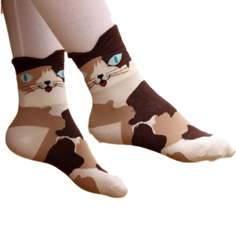 Fashionable and Stylish 3D Cat Socks for Women and Girls