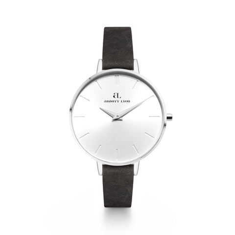 Black Leather Minimale 38 (Silver/White)