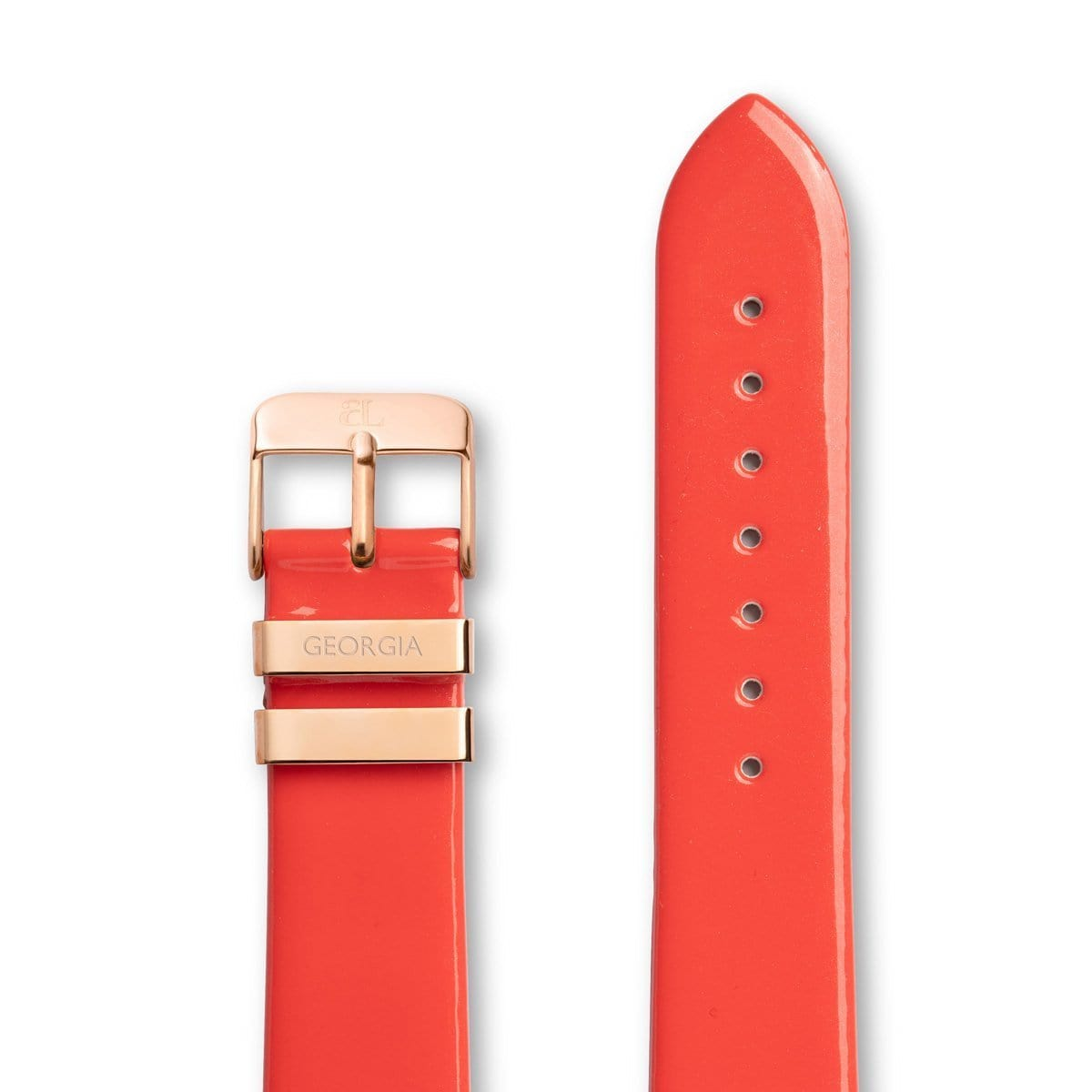 Coral Patent 40 Strap Rose Gold