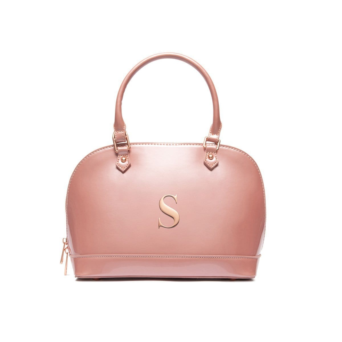 Alexa Top Handle Bag (Dusky Pink/Rose Gold)