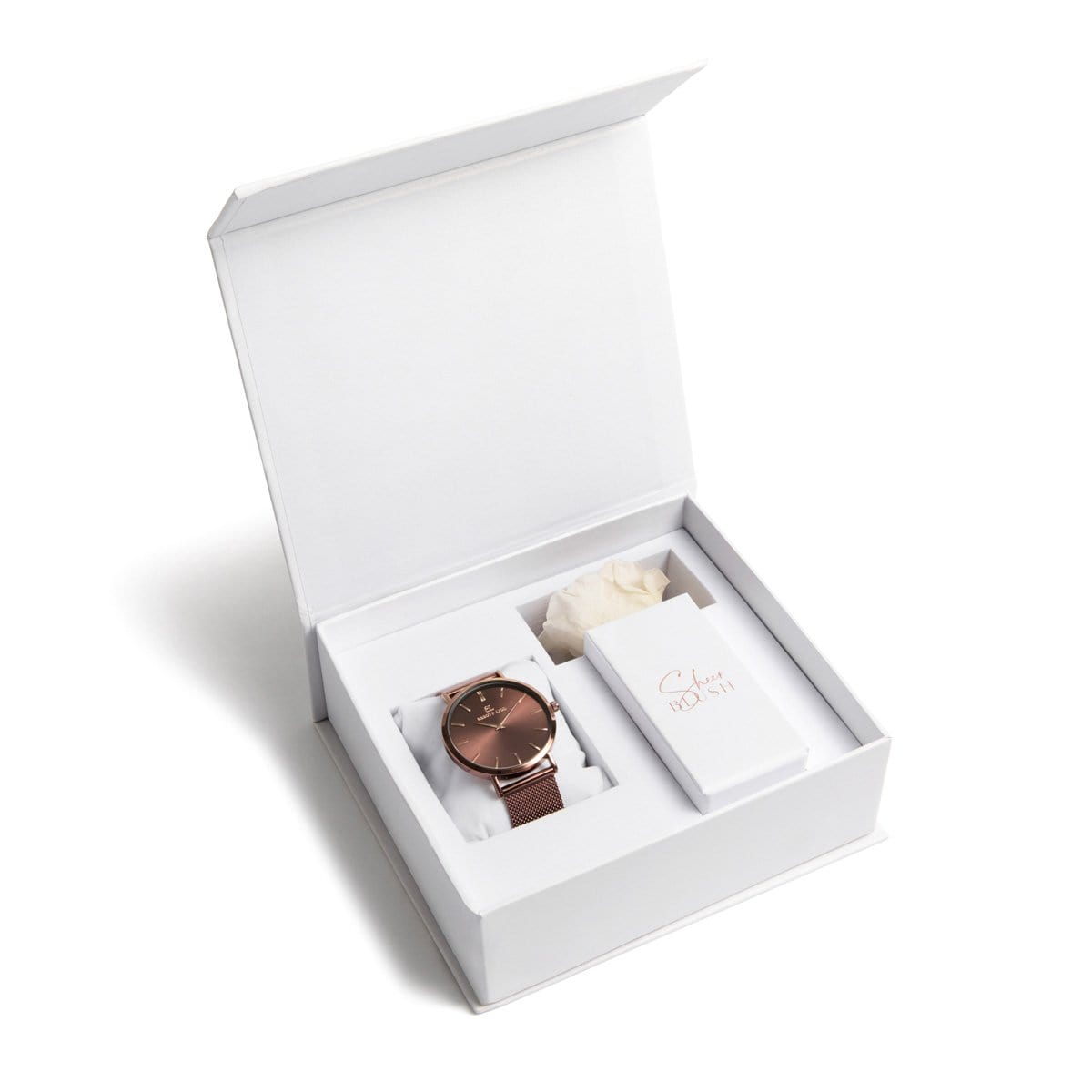 The Mocha Eternal Rose Gift Set (White)