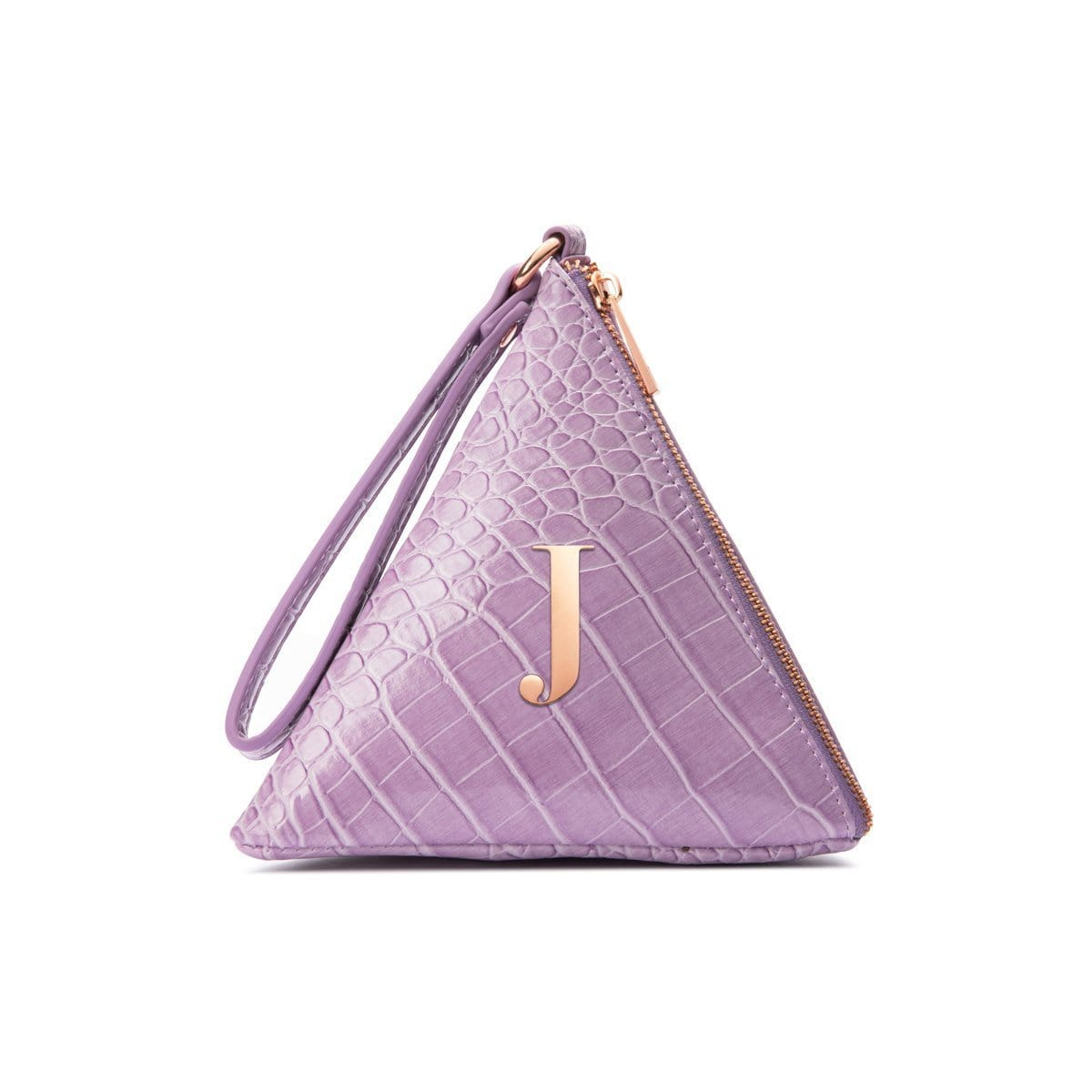Lilly Pyramid Clutch Bag (Lilac/Rose Gold)