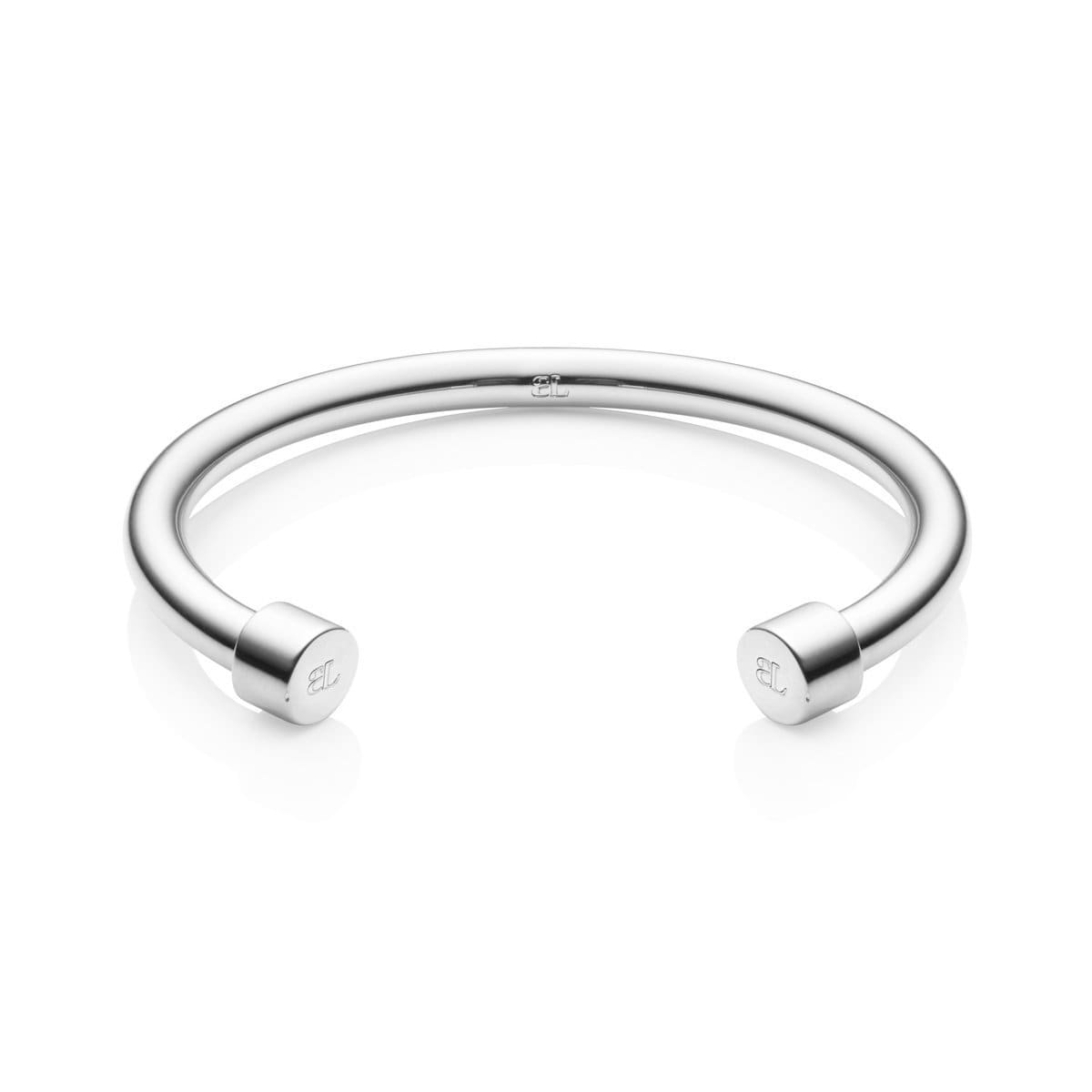 Circle Ends Cuff Bangle (Silver)