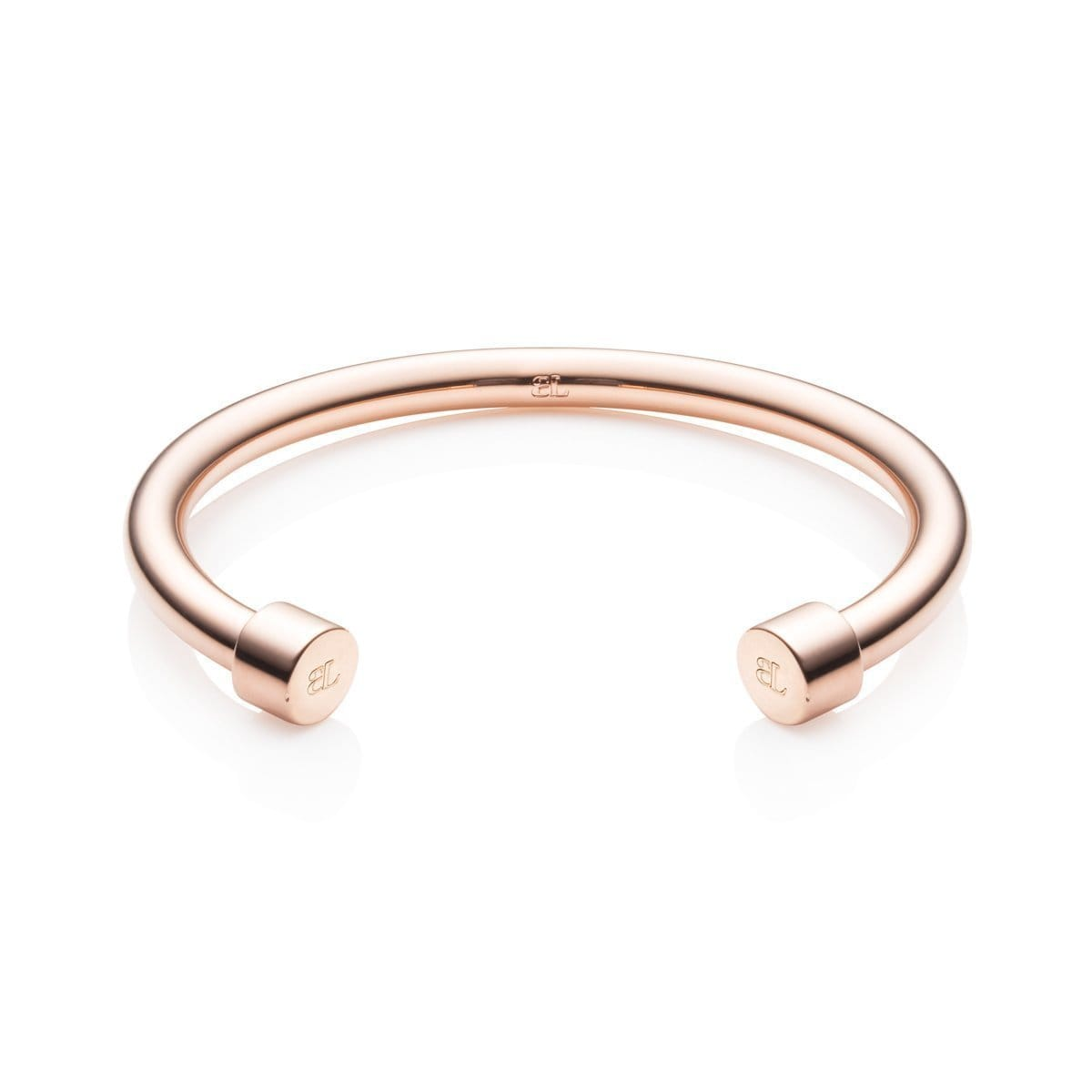Circle Ends Cuff Bangle (Rose)