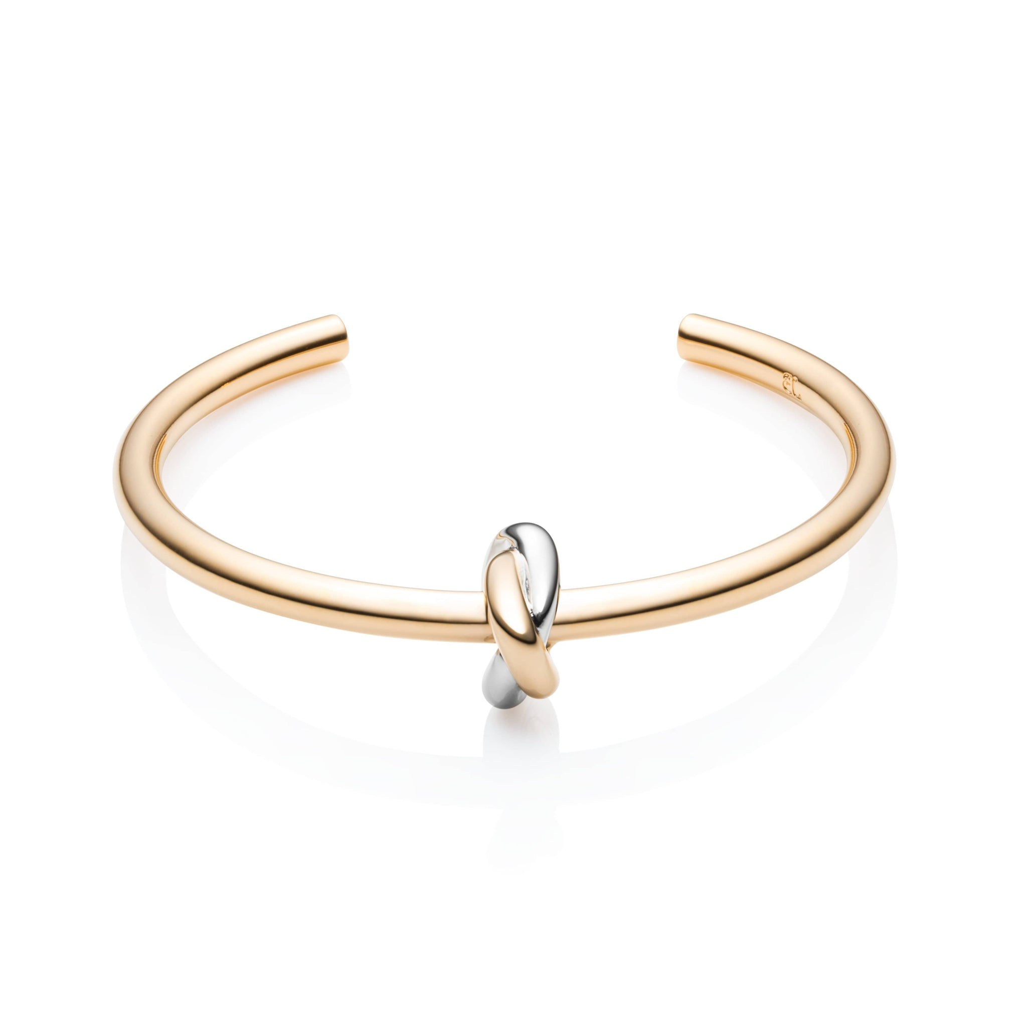 Knot Bangle (Yellow Gold/Silver)
