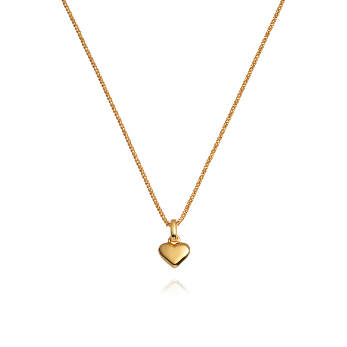 Sterling Silver Mini Heart Necklace (Gold)