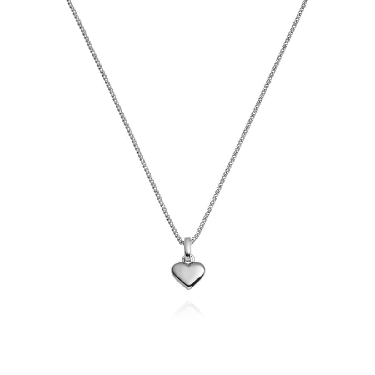 Sterling Silver Mini Heart Necklace (Silver)