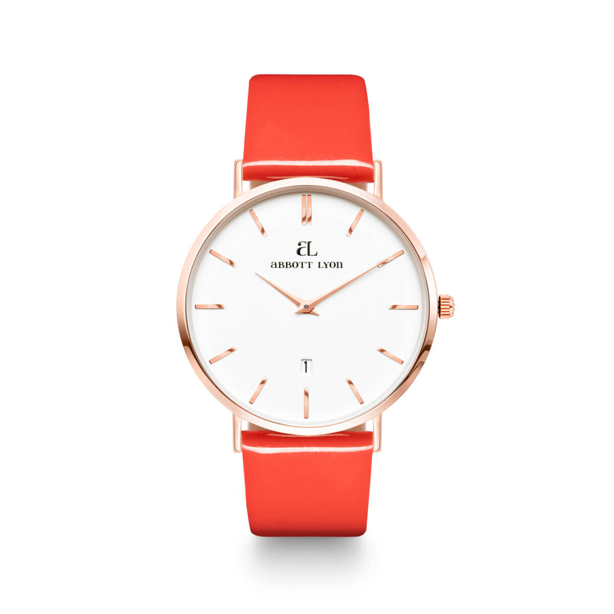 Coral Patent Kensington Rose Gold 40