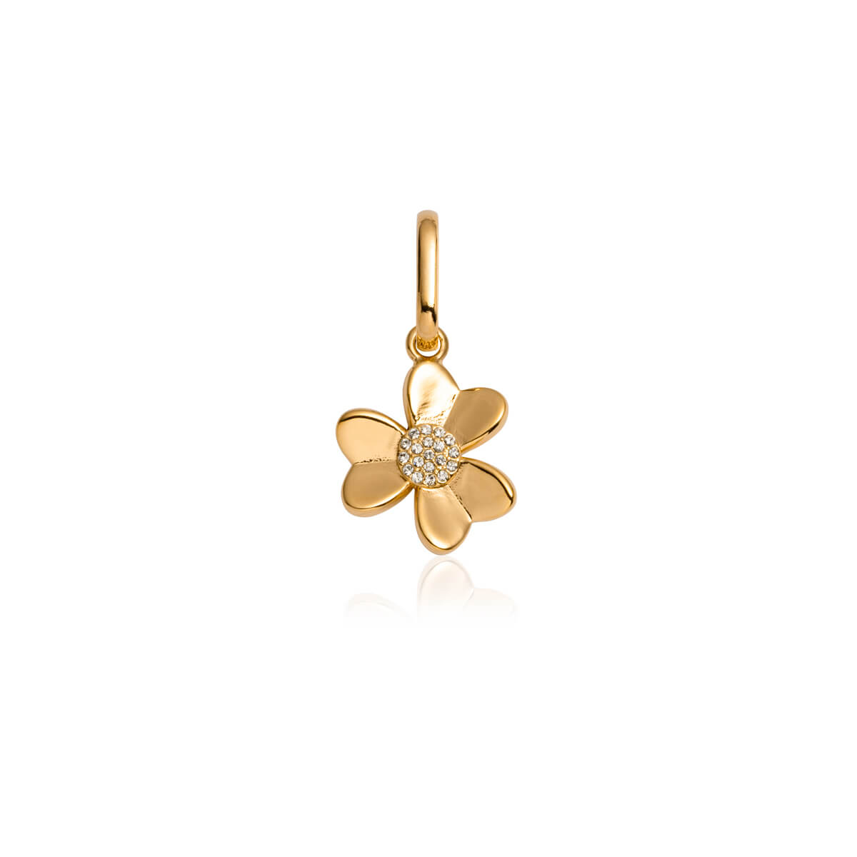 Crystal Flower Pendant (Gold)