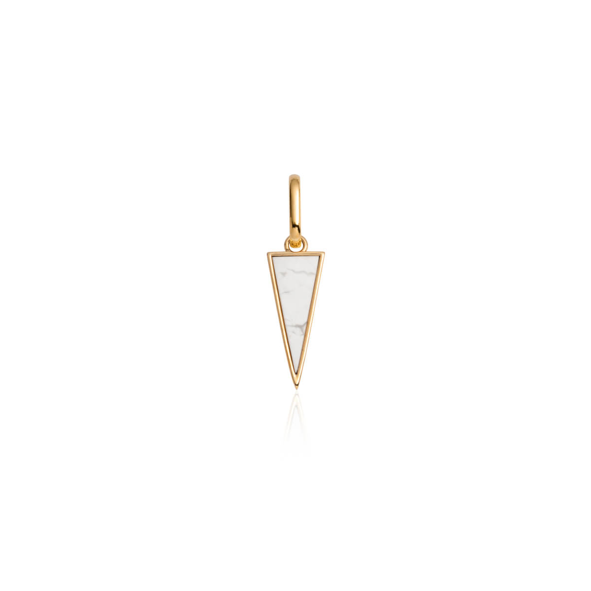 White Marble Spear Pendant (Gold)