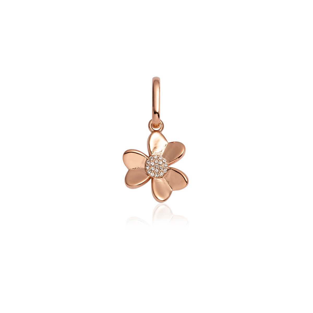 Crystal Flower Pendant (Rose Gold)