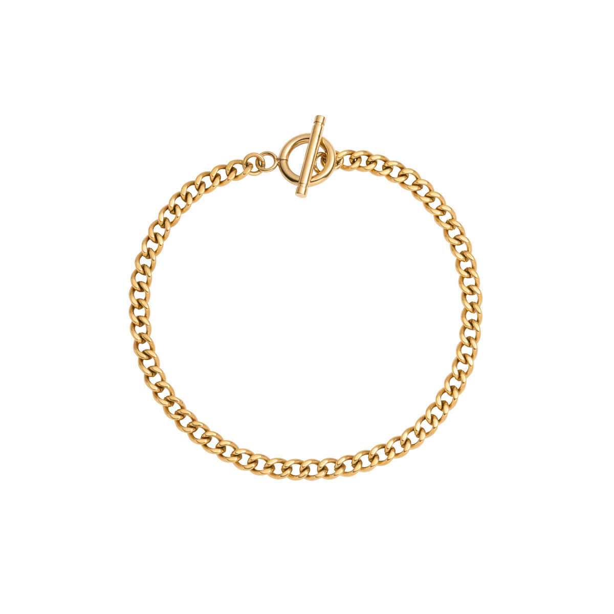 Small Curb Chain Bracelet (Gold)