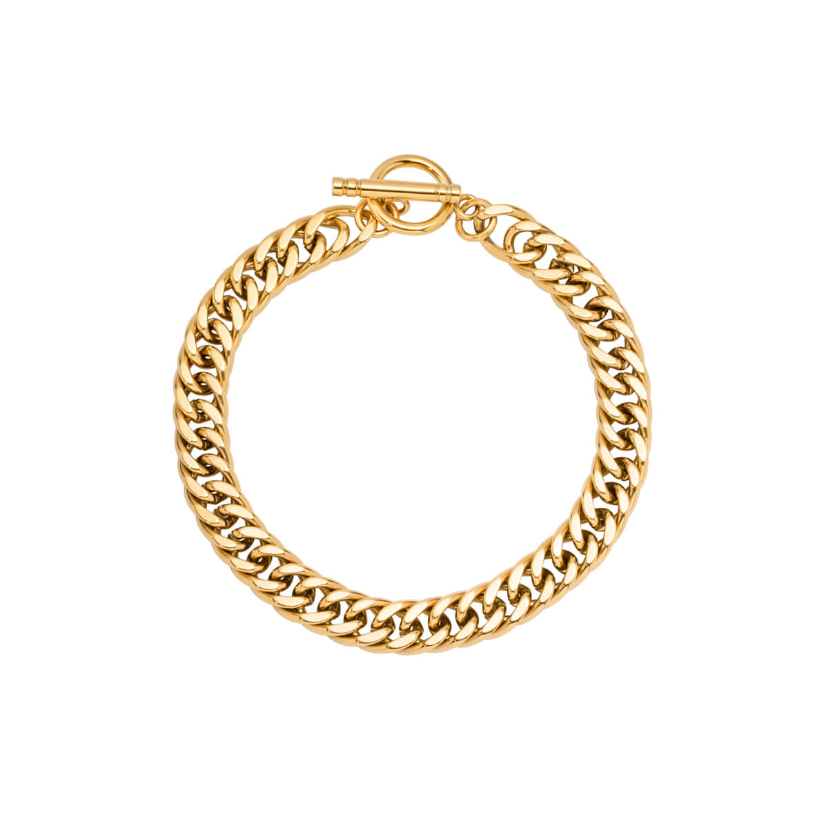 Curb Chain Bracelet (Gold)