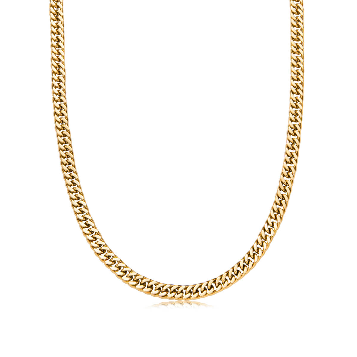Curb Chain Necklace 18 in (Gold)