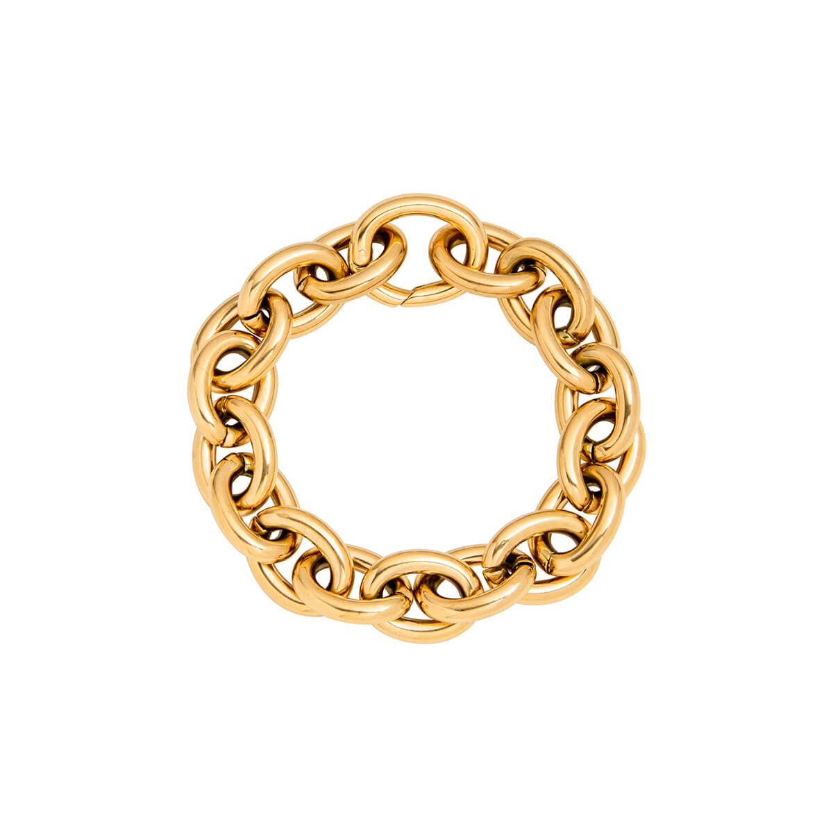 Selected Oval Link Chain Bracelet (Gold)