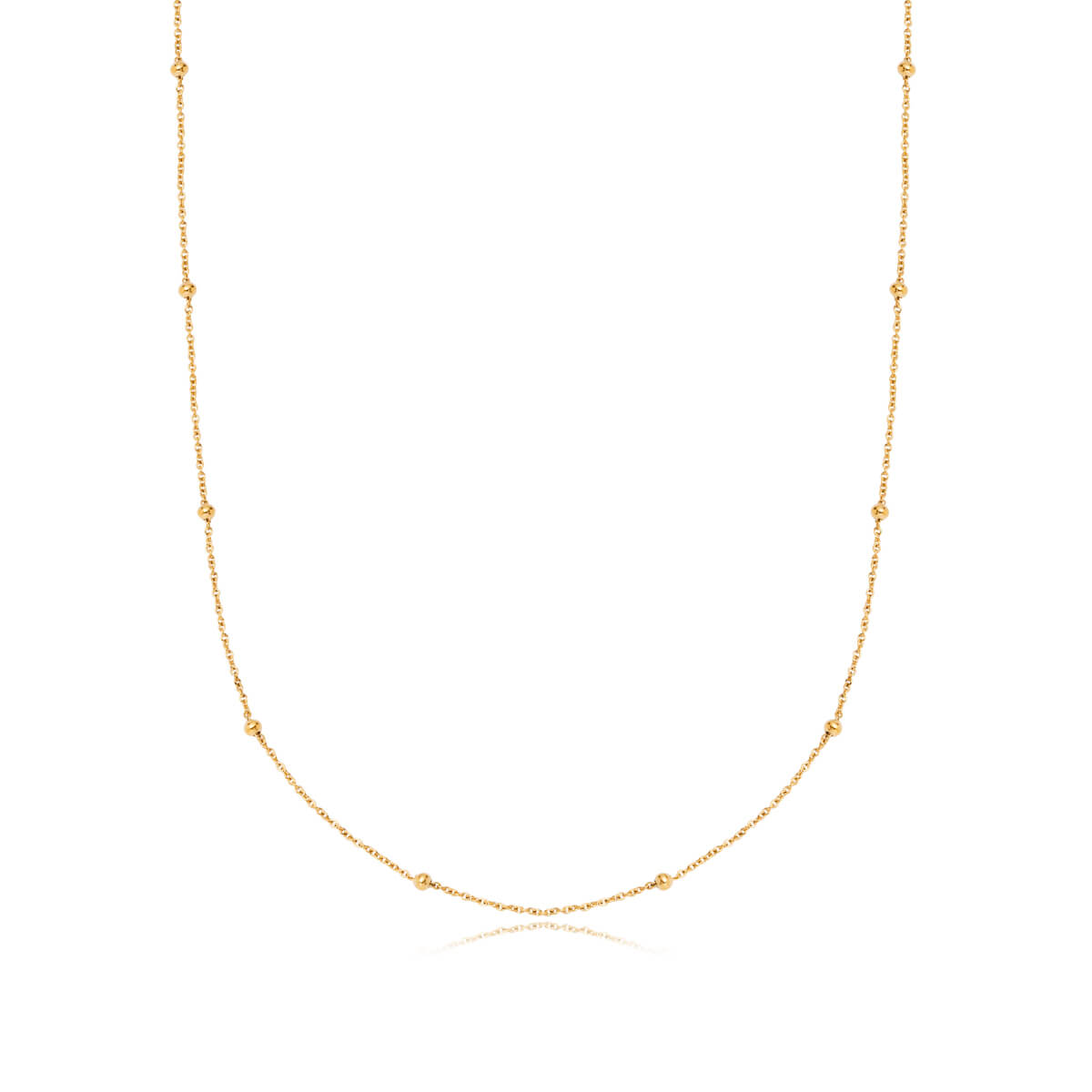 Selected Sphere Chain Necklace 20 in (Gold)