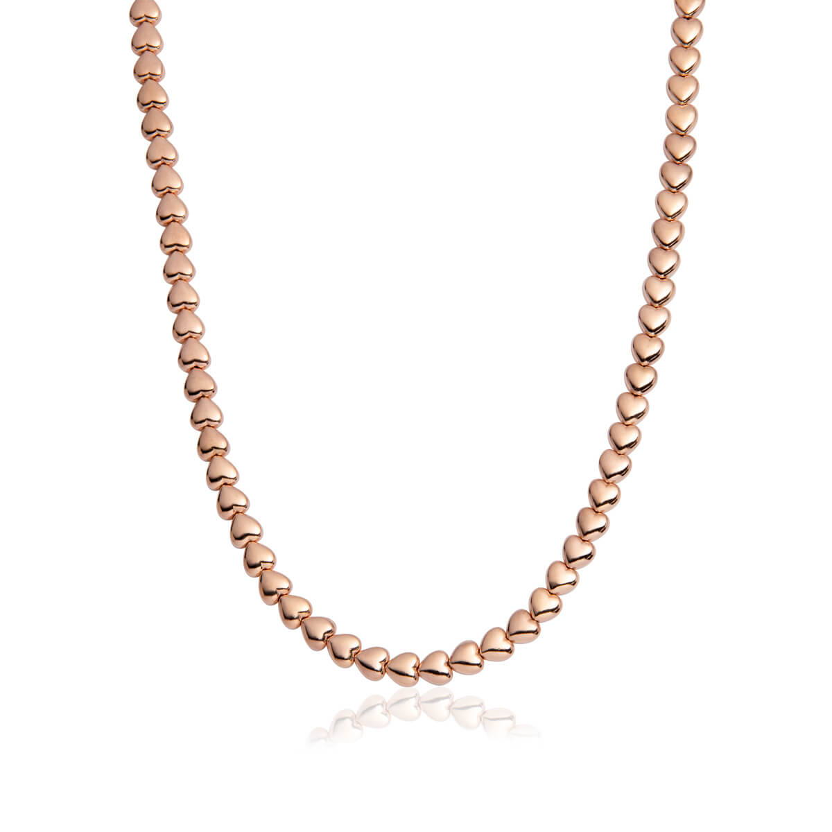 Selected Heart Chain Necklace (Rose Gold)