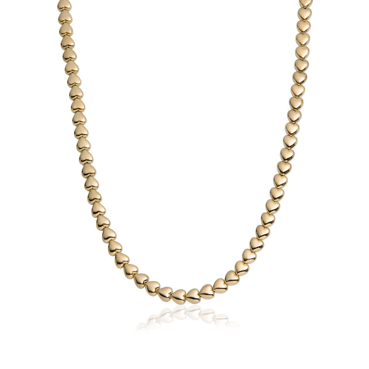 Selected Heart Chain Necklace (Champagne)