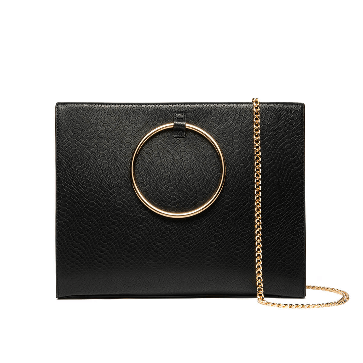 Grand Jet Black Moda Handbag (Gold)