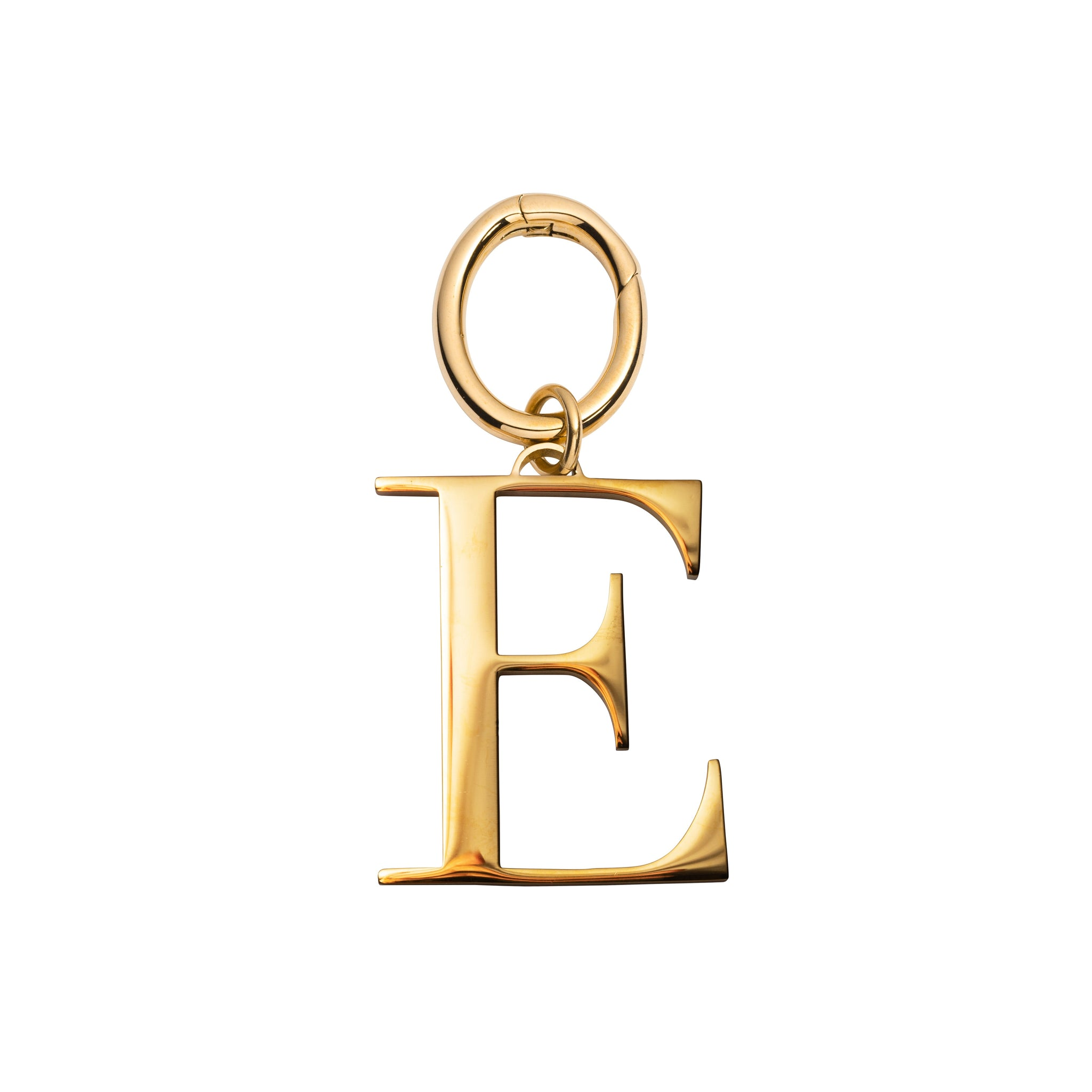 Metal Letter Key Ring (Gold)