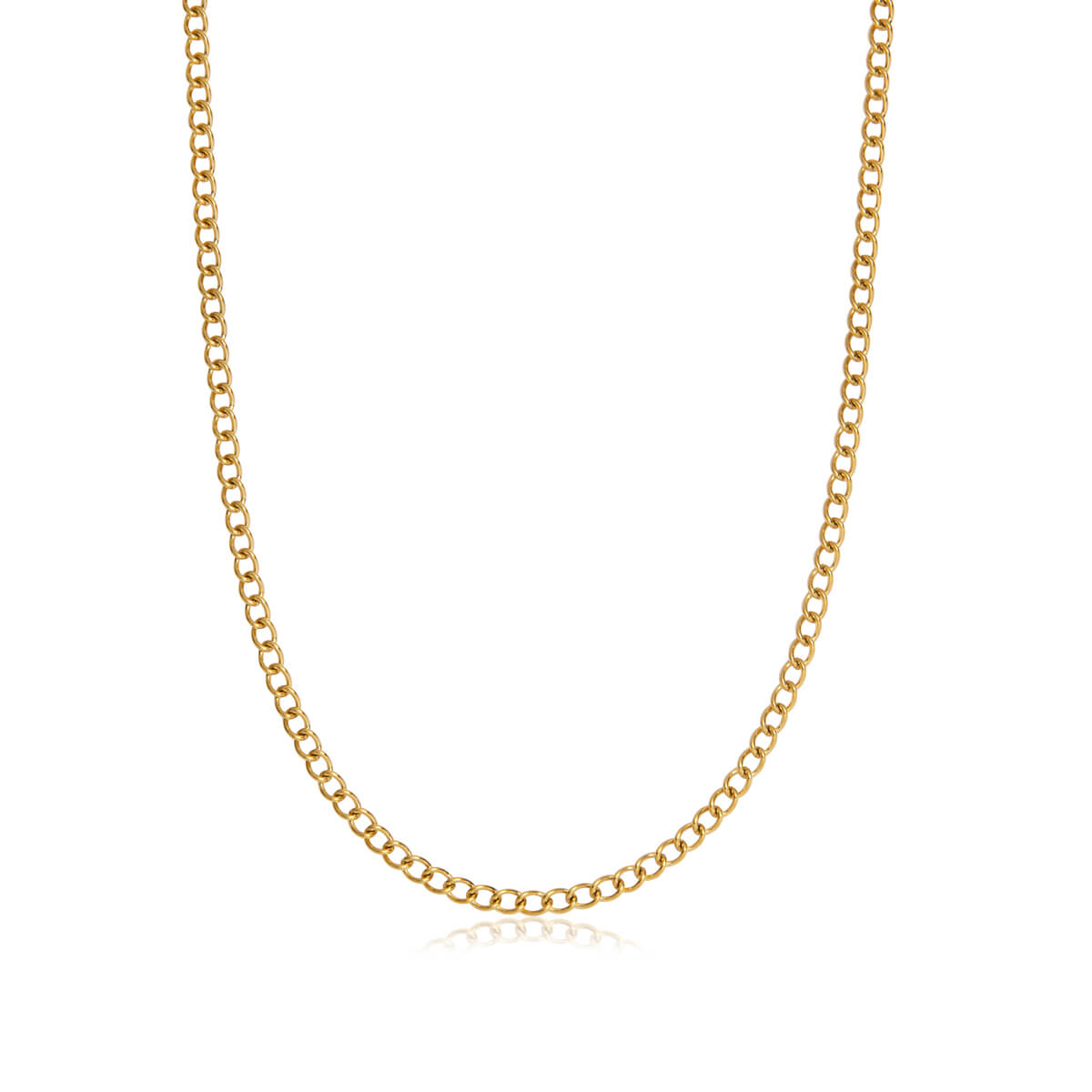 Curb Chain Necklace 20 in (Brass)