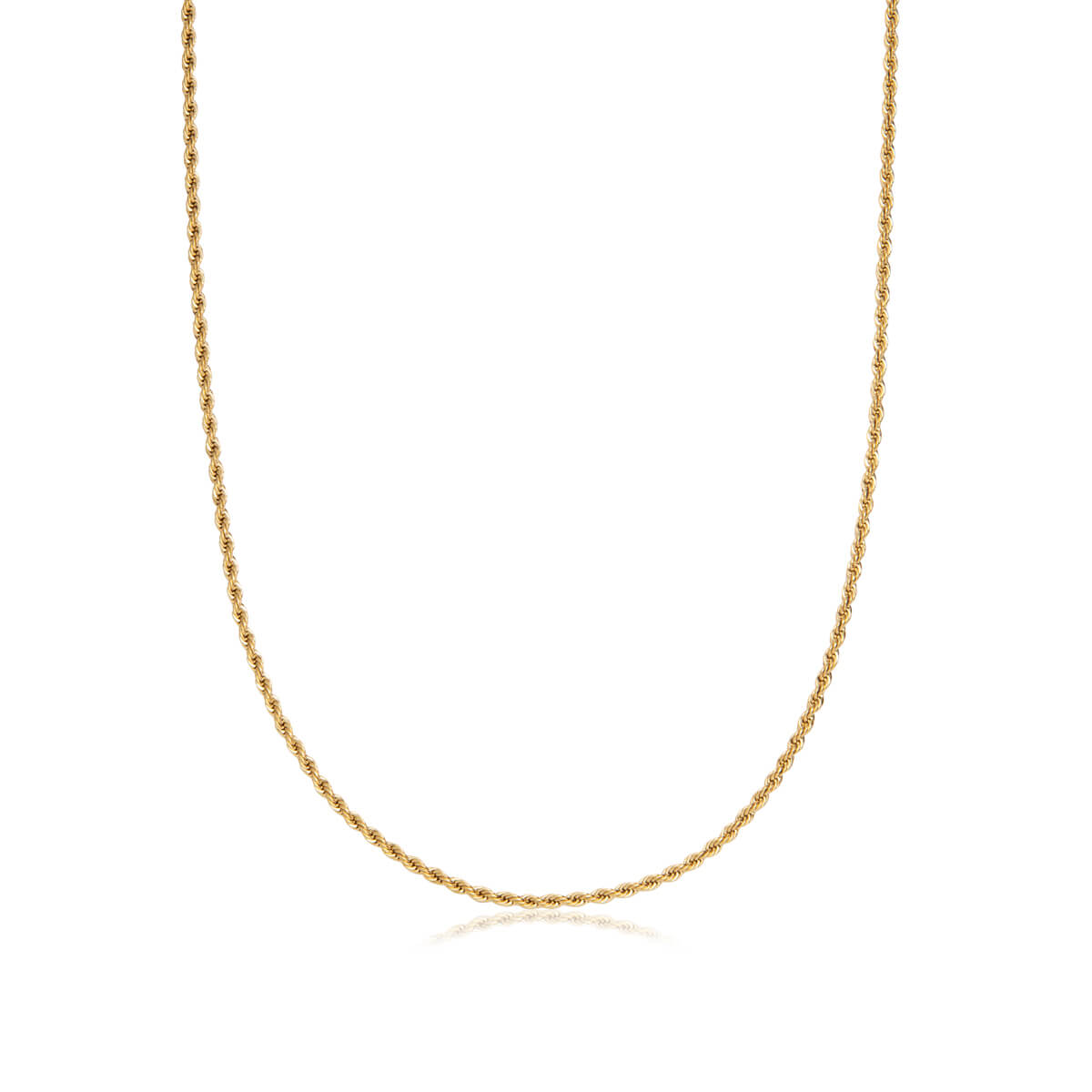 Selected Rope Chain Necklace 20 in (Brass)
