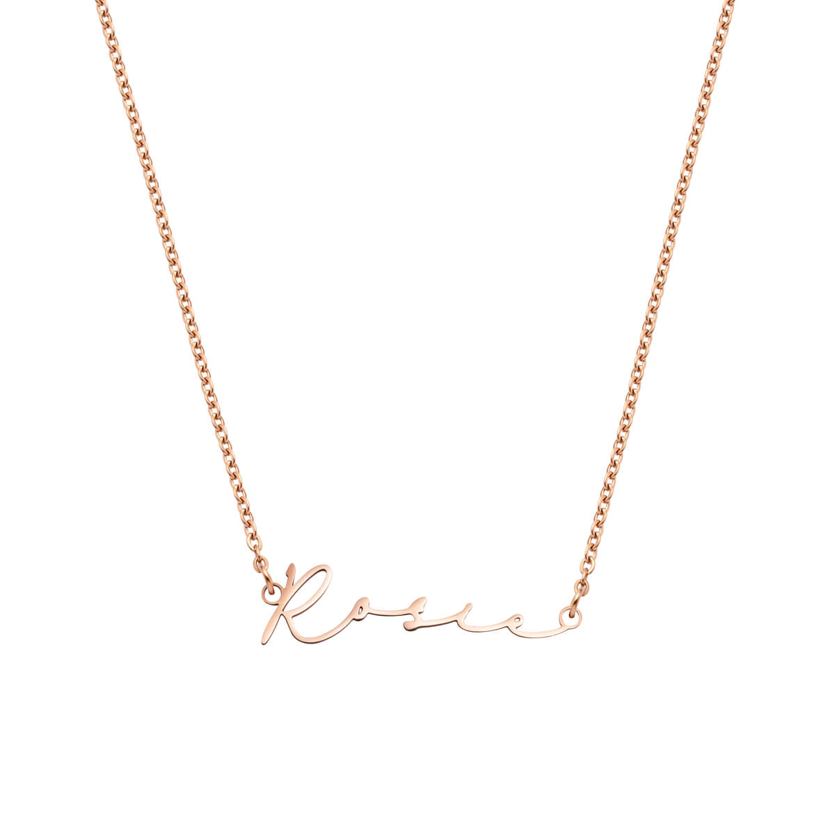 Signature Name Necklace (Rose Gold).