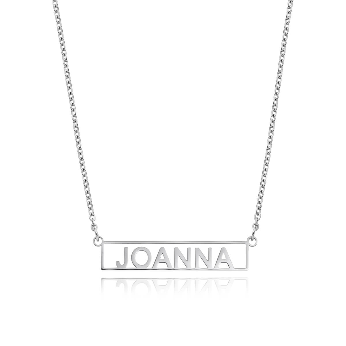 Framed Name Necklace (Silver)