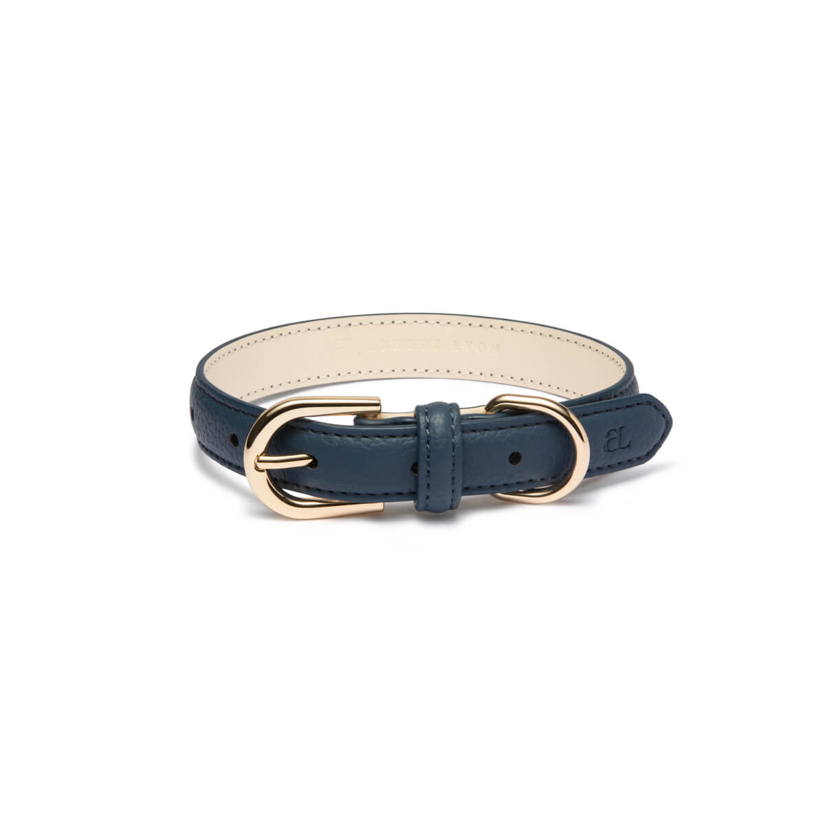 Navy Dog Collar (Gold)