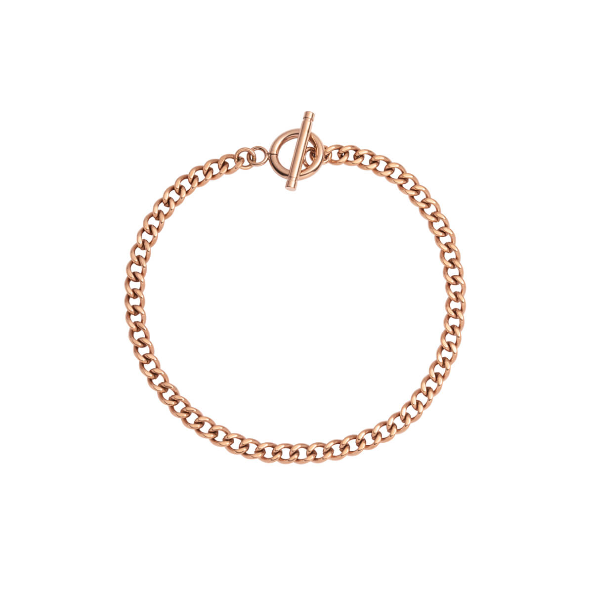 Small Curb Chain Bracelet (Rose Gold)
