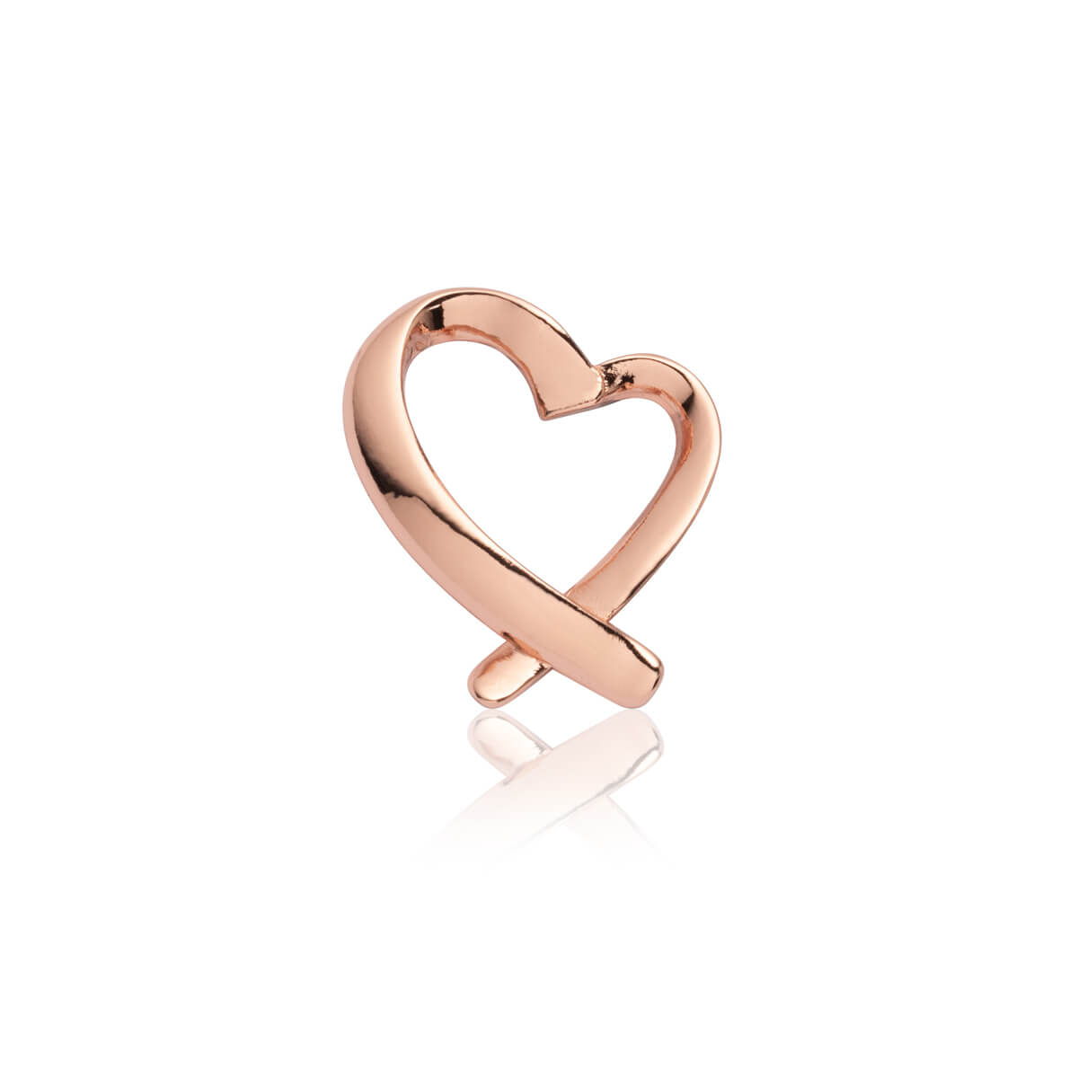 Script Heart Pendant (Rose Gold)