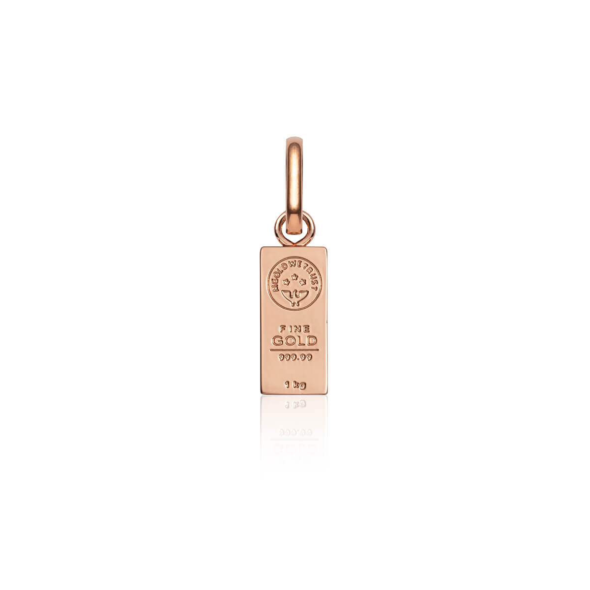 Gold Bar Pendant (Rose Gold)