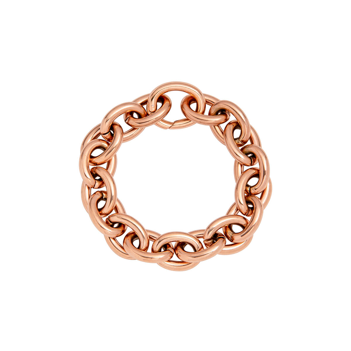 Selected Oval Link Chain Bracelet (Rose Gold)