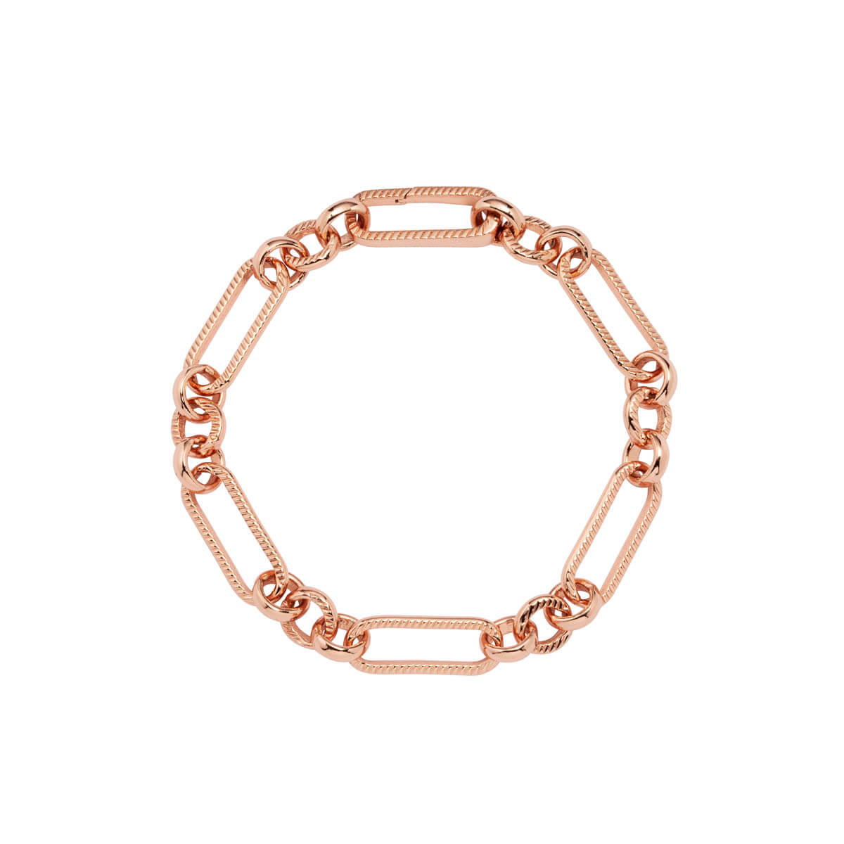 Figaro Chain Bracelet (Rose Gold)