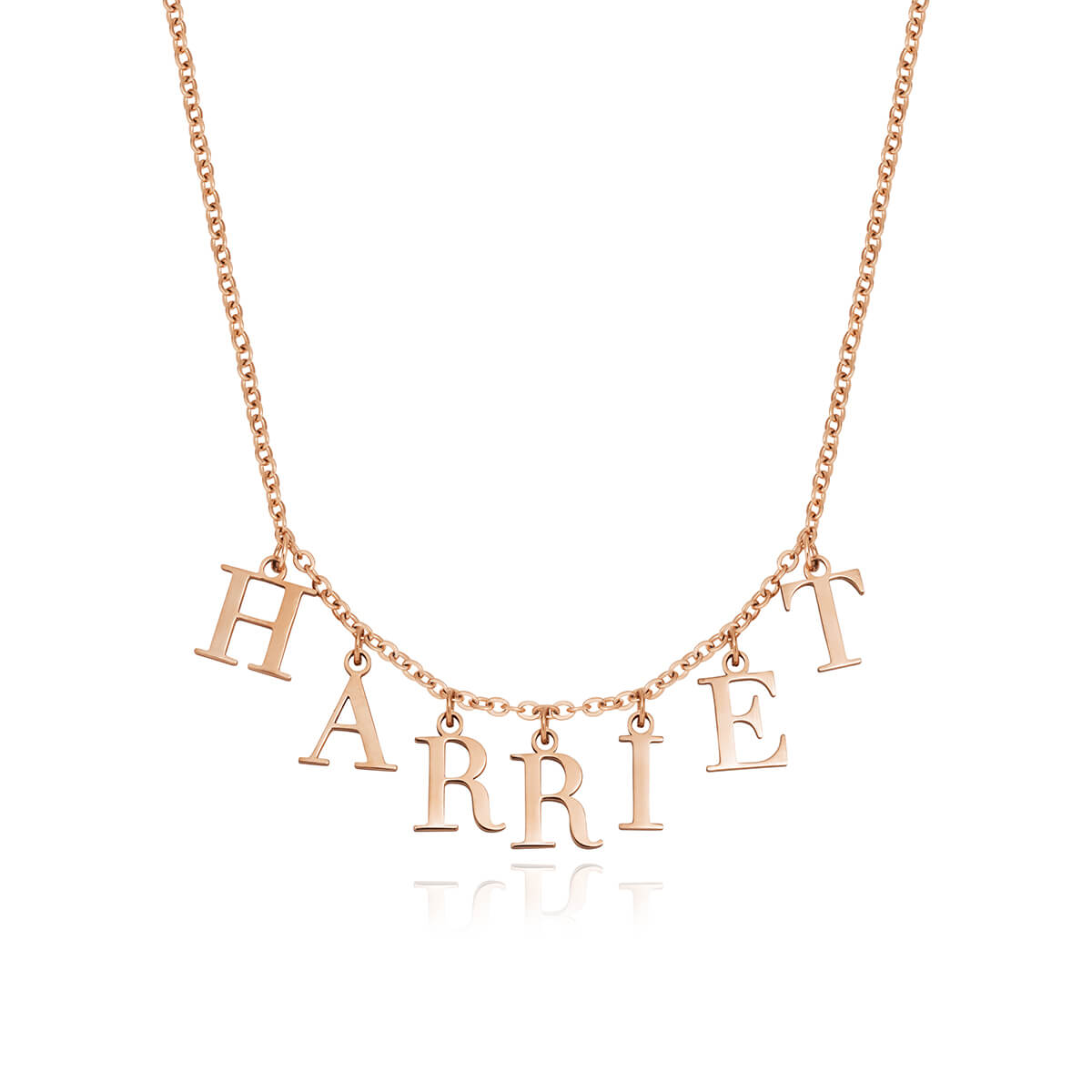 Editorial Letter Name Necklace (Rose Gold)