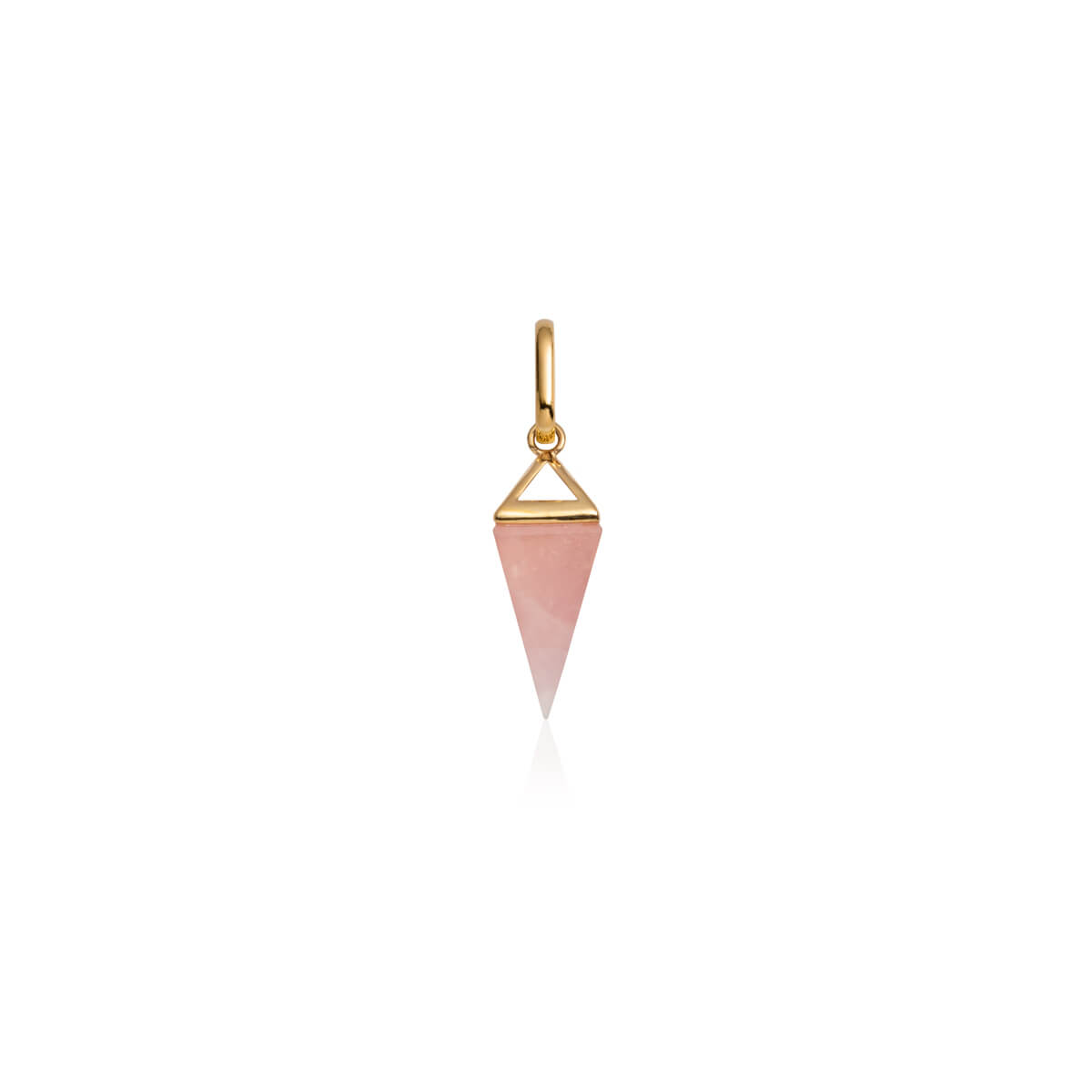 Rose Quartz Prism Pendant (Gold)